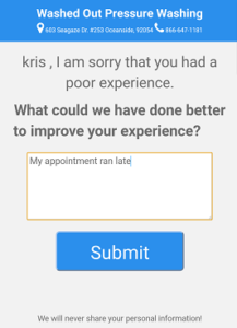 Bad Experience? No Worries